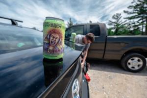 Pre-hike beer